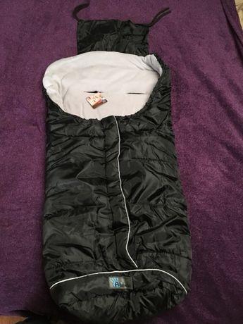 Śpiworek Active Altabebe, czarny z szarym polarkiem