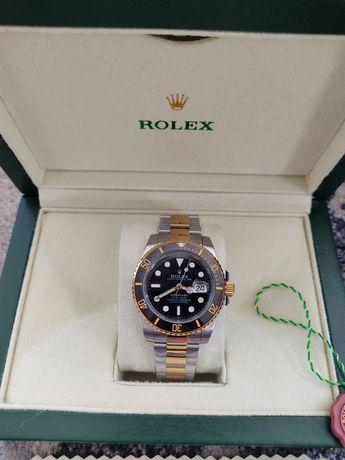Rolex Submariner dourado relógio automático