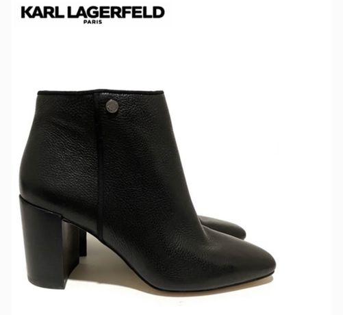 Кожаные ботьльоны Karl Lagerfeld