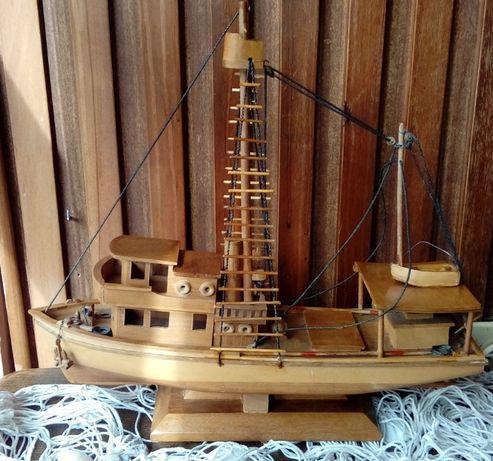Stary kuter drewniany model Rękodzieło