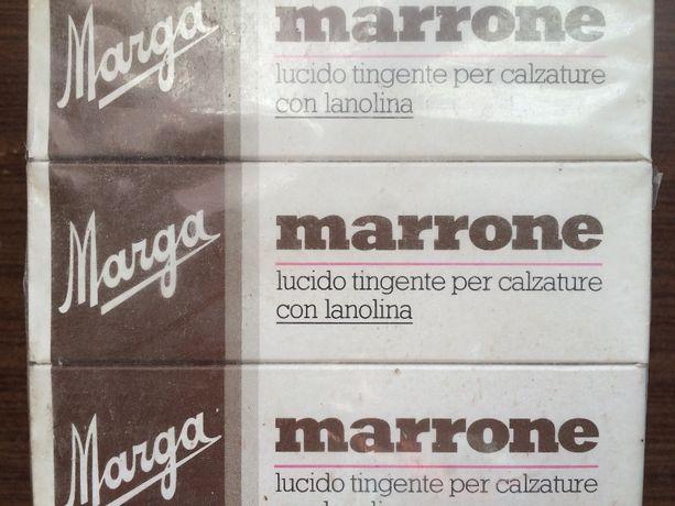 Крем для обуви итальянский Marga коричневый с ланолином 41мл
