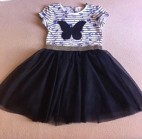 Плаття платье бабочка метелик пайєтка фатин primarkb 3-до 5 р