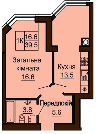 Продажа однокомнатной евартиры в ЖК София Резиденс 51500$ без комиссии