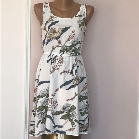 Эффекктное платье с цветочным рринтом Only