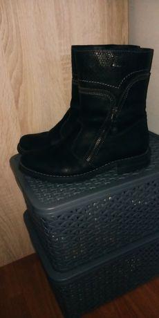 Buty Lasocki skórzane zimowe przesyłka 1zł