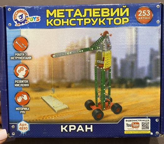 Металлический конструктор Кран