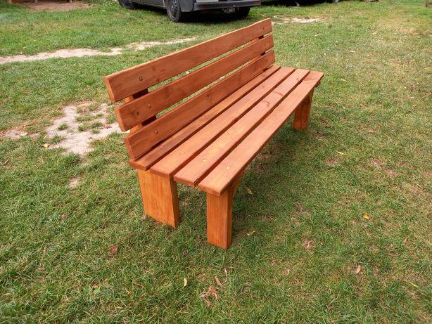 Ławka drewniana z olszyny