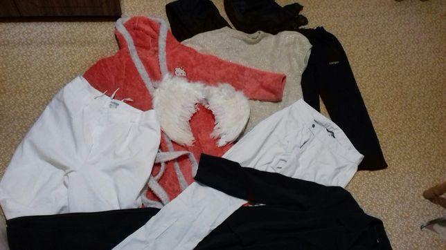 Штаны халат джинсы крылья капюшон плащ кофта