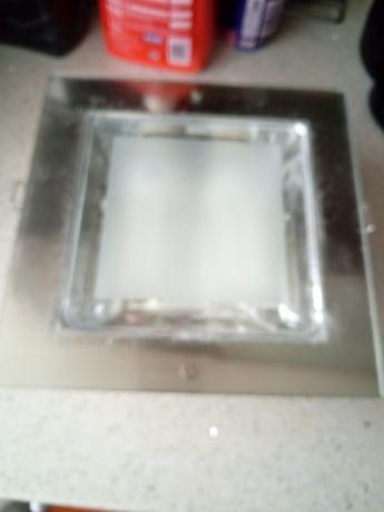 4 unidades de Luzes de embutir em inox e vidro 23x 23 cm 2 x e27