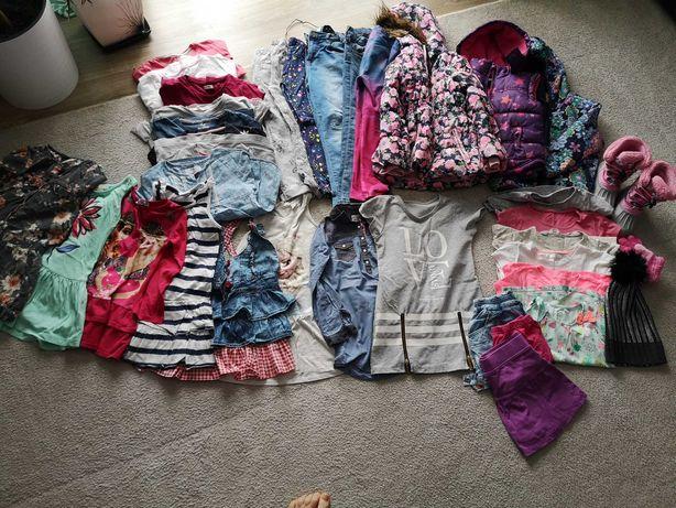 Paka ubrań dziewczynka 116-122