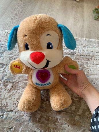 Детская развивающая игрушка собака FisherPrice