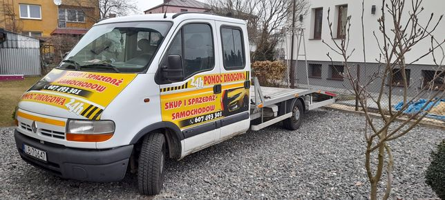 Renault Master laweta pomoc drogowa.