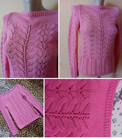 Тёплая кофта.Розовая кофта.Вязка.Тёплый джемпер.Женская розовая кофта