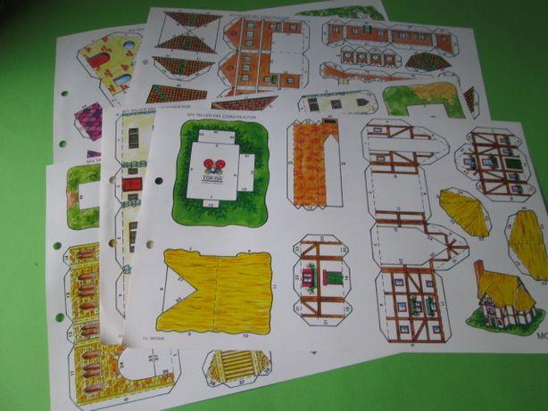 Lote 5 Casas de Papel / Recortar Construções Anos 90 - Novas