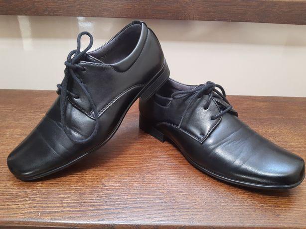 Półbuty eleganckie buty na komunię wesele impreza czarne