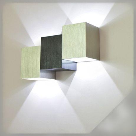 Kinkiet Modny wzór Kostki LED Kinkiet 2 x 3W 230V