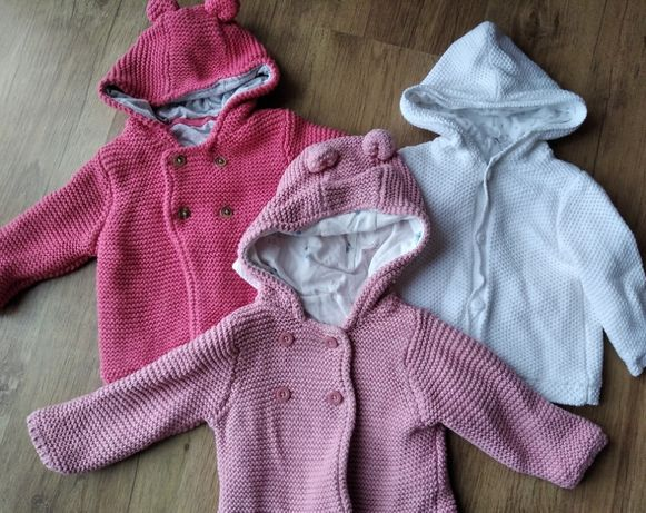 Kurtki sweterkowe 3szt