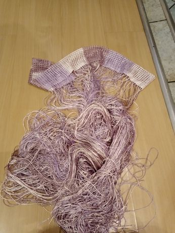 Firanki typu ,, makarony,, odcienie fioletu