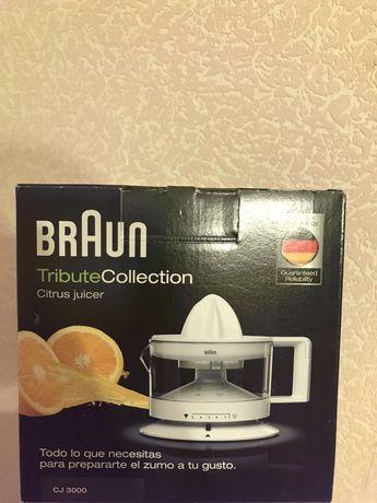 Соковыжималка braun cj3000wh