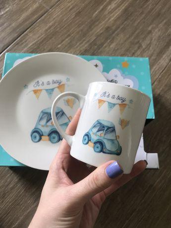 Фарфор набор тарелка чашка для мальчика Fiora! Качество