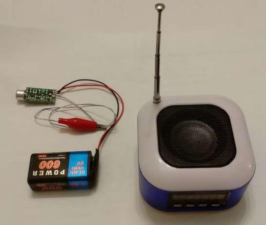Радионяня: мини радиопередатчик с микрофоном в FM диапазоне