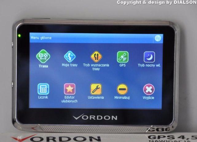Nowa Nawigacja Samochodowa VORDON 4,5' Dożywotnio Mapy EU PL GPS F VAT