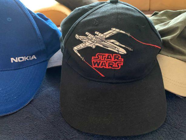 Zestaw czapek: oryginalna STAR WARS, NOKIA, ASTRA, i inne
