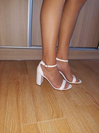 buty ślubne botki białe obcas Deezee 39/40 CCC