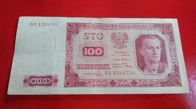 """Osiem Banknotów """" 100 Złotych """" - Rok 1948 / Super Stany !"""