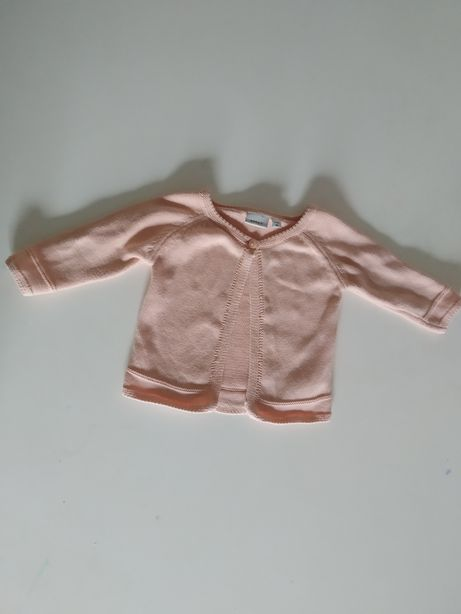 Sweterek bolerko narzutka dla dziewczynki 62 2-4 mca