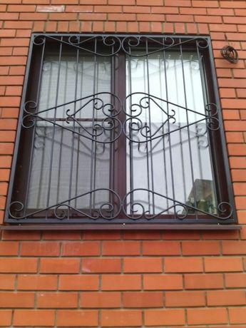 Решетки на окна, двери, балкон. Металлоизделия. Ковка.Монтаж, Доставка