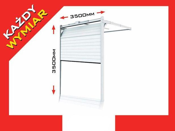 Brama segmentowa PRZEMYSŁOWA 3500 x 3500 mm Drzwi garażowe SEGMENTOWE