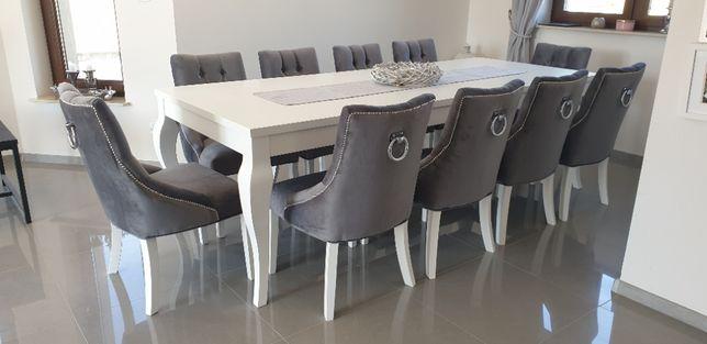 Krzesło pikowane z kołatką tapicerowane welur chesterfield producent
