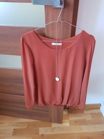 Ruda bluzka, 36, długi rękaw +gratis