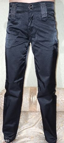 Черные школьные классические штаны на девочку рост 134 140