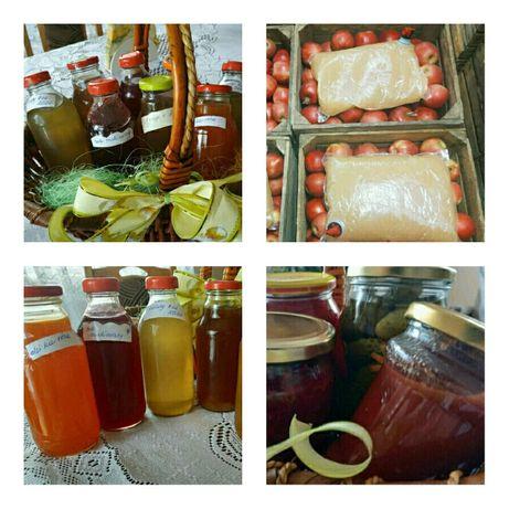 Jabłka, sok jabłkowy, soki i przetwory z własnych owoców i warzyw