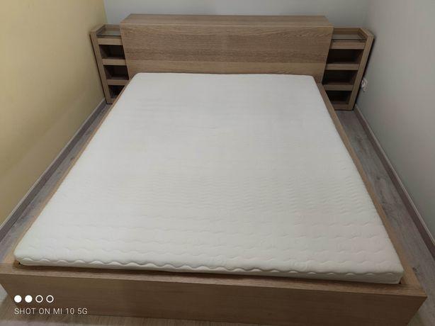 Łóżko Ikea Malm (160 x 200 ) z dostawką, materac