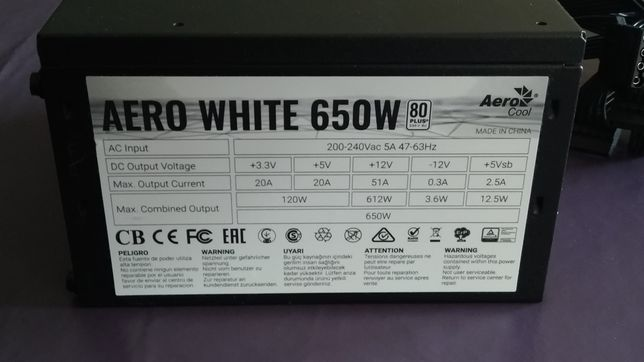 Board Asus. Fonte Aerocool 650W