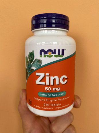 Zinc цинк now foods 50 mg БАД