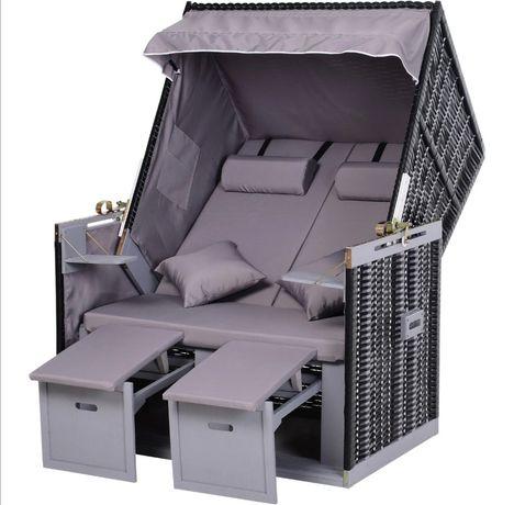 Komplet ratanowy leżak 2 os nowy