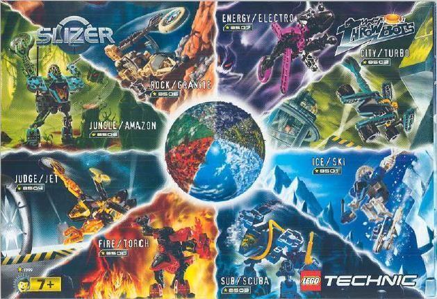 Lego Technic Slizers anos 90s - Coleção completa