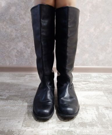 Офицерские хромовые кожаные сапоги. Советская армия