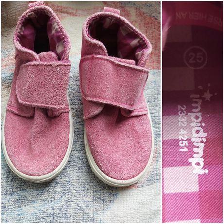 Хайтопы ботинки Impidimpi замша 25р 15.5+/- стелька в хорошем сост.