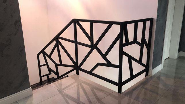 Balustrada metalowa w nowoczesnym stylu.