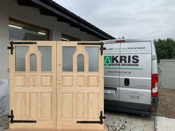 Drzwi garażowe frezowane grubość 5cm, brama garażowa