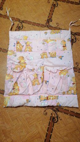 Балдахин + защита на кроватку, одеяло, подушка +держатель