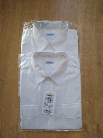 Koszulo-bluza z krótkimi rękawami MW biała wz. 301/MON 40/175