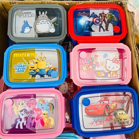 Детский Ланч Бокс для мальчика и девочки контейнер для обедов и еды