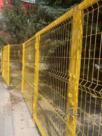 Ограждение из сварной сетки. Забор из сетки 3D. Калитки. Ворота.