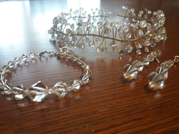Ekskluzywna biżuteria ślubna SWAROVSKI CRYSTAL